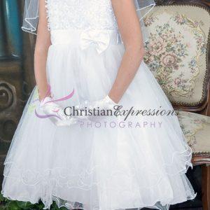 Tea Length Ballerina First Communion Dress Size 8