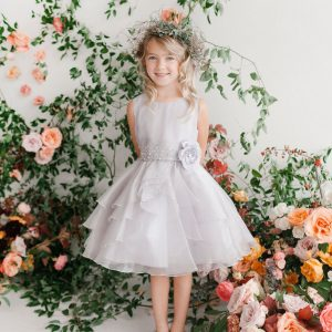 Layered Organza Girls Pageant Dress