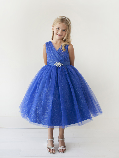 Flower Girl Dress Glitter Tulle Rhinestone Brooch |Flower Girl Dress Brooches