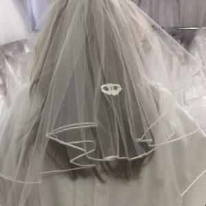 Irish First Communion Veil with Claddagh