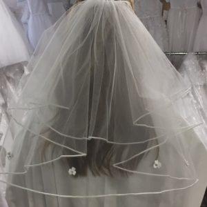 irish first communion veil with shamrocks