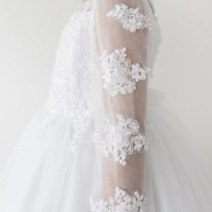 lace long sleeves first communion dress