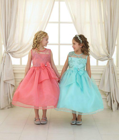 Flower Girl Dress Lace Bodice