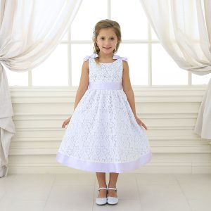 Lilac Flower Girl Dress with Soft Lace