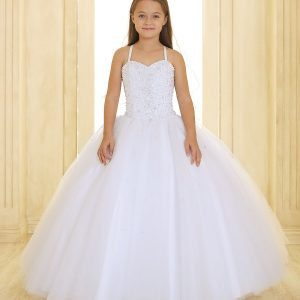 First Communion Dress with Sweetheart Neckline