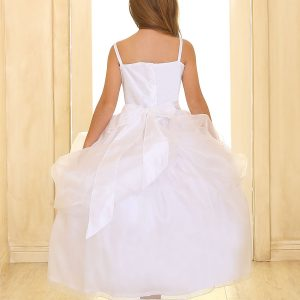 Fancy First Communion Dress Beaded Bodice and Skirt
