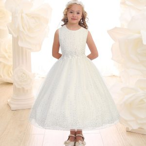 ivory first communion dress with crystals
