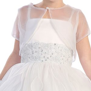 First Communion Dress with Lace waistline
