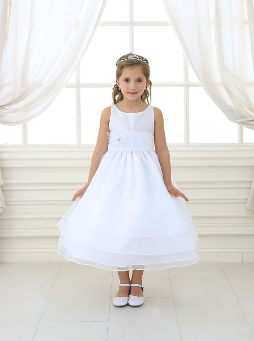 First Communion Dress Organza Layered Skirt