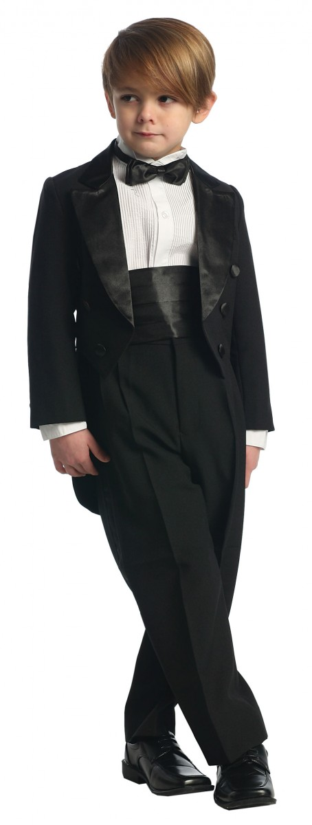 Boys Black First Communion Tuxedo Suit