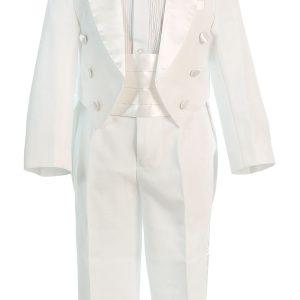 Boys Ivory First Communion Tuxedo Suit 5 Piece