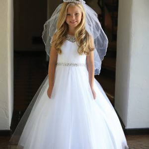 Gorgeous First Communion Dress with Intricate Beadwork