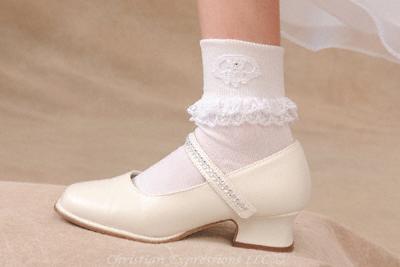 Irish Claddagh First Communion Anklets