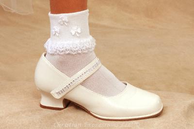 Irish Shamrock First Communion Anklets
