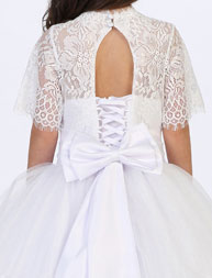 First Communion Ball Gowns with Corset Back