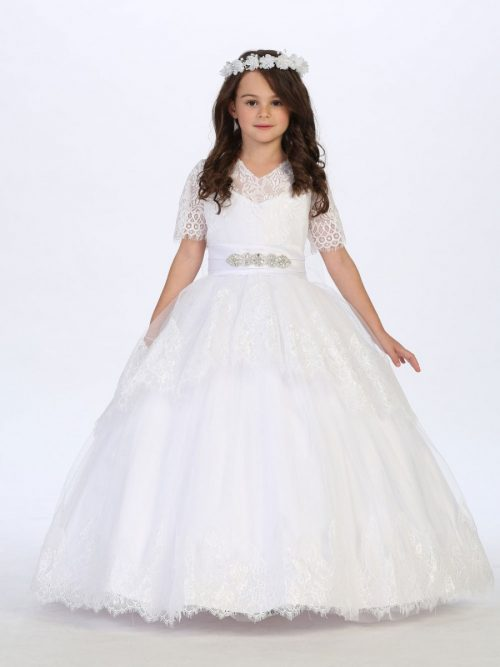 Lace First Communion Ball Gown