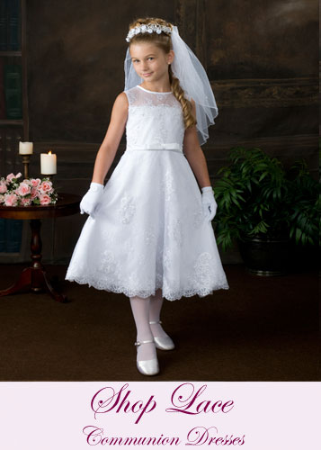 Lace First Communion Dresses