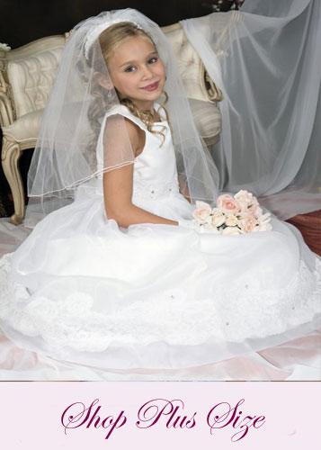 Plus Size First Communion Dresses – FirstCommunions.com