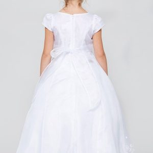 A-Line Organza First Communion Dress with Layered Skirt