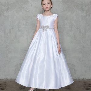 A Line Satin First Communion Dress