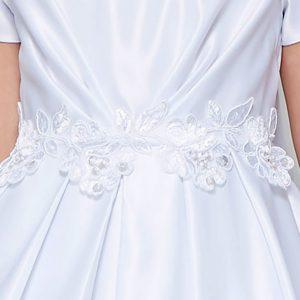 All Satin Communion Dress