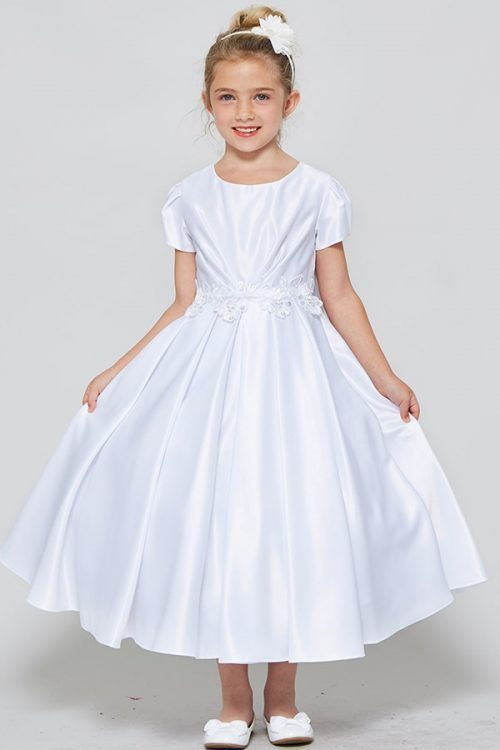 All Satin First Communion Dress