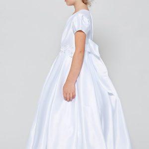 All Satin Girls First Communion Dress