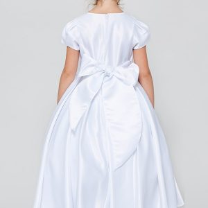 All Satin Simple First Communion Dress