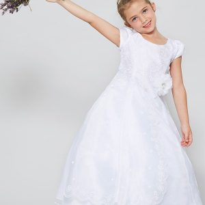 Buy Organza First Communion Dress with Layered Skirt