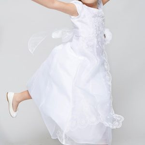 Cute Organza First Communion Dress with Layered Skirt