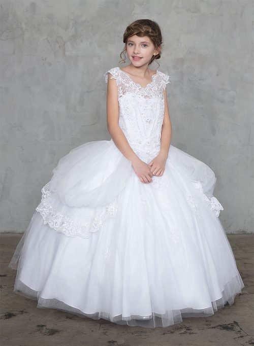 Extra Full First Communion Ball Gown