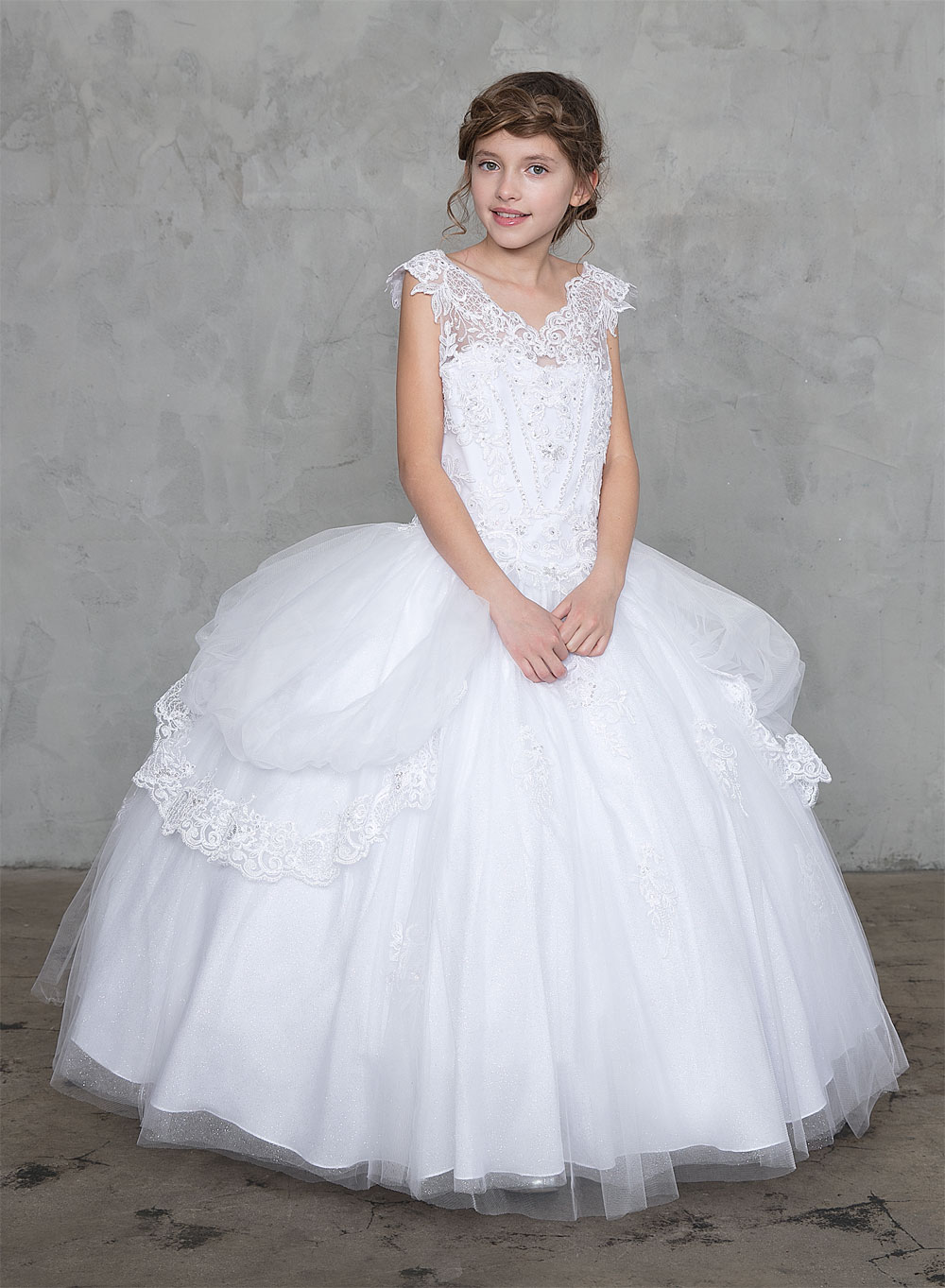 Crosses For Sale >> Buy First Holy Communion Gowns with Draped Tulle | Extra ...