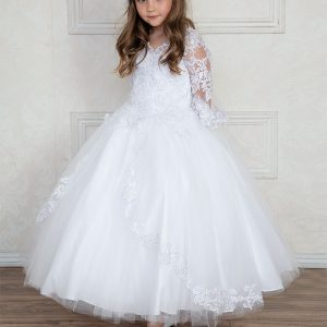 First Communion Gown with Bell Sleeves