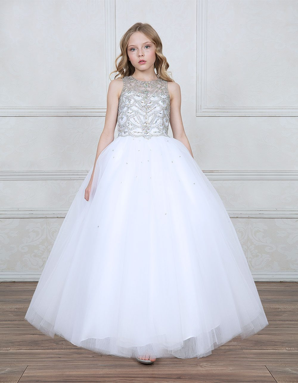 Buy White First Communion Dresses With Jeweled Bodice