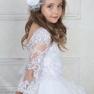 First Holy Communion Gown with Bell Sleeves