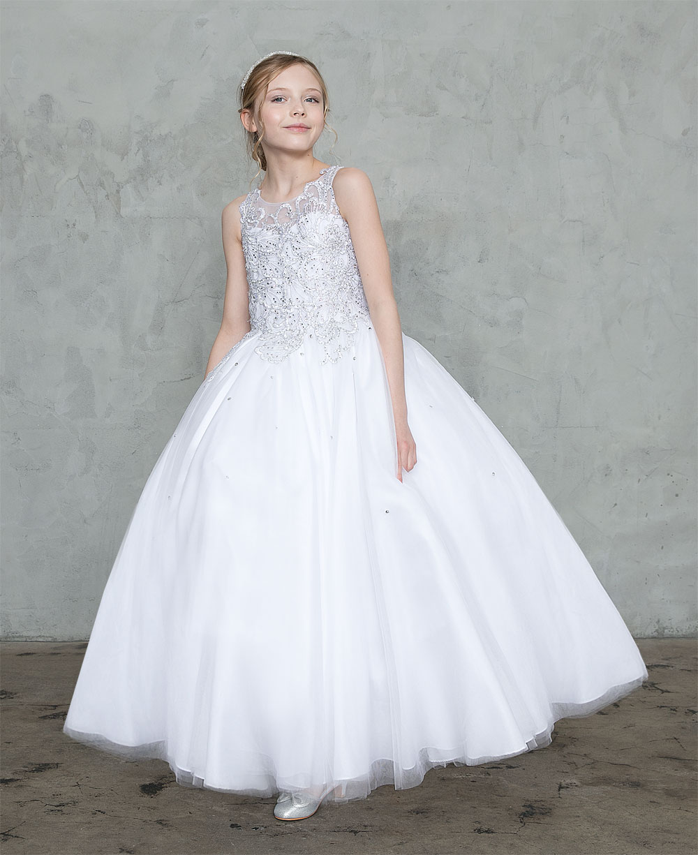 Buy First Holy Communion Gowns With Beaded Bodice