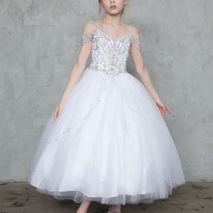 Off The Shoulder First Communion Ball Gown