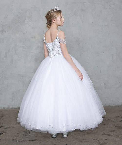 Off Shoulder First Communion Gown
