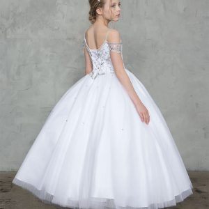 Off the Shoulder First Communion Dress