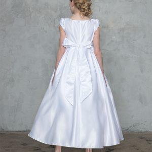 Sleeveless Satin First Communion Dress
