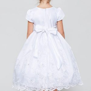 satin and organza first communion dress on sale
