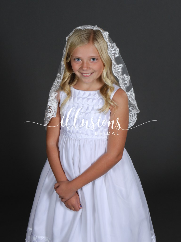 Flower Lace First Communion Veil