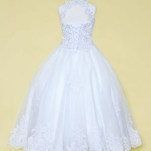 Embroidery Lace 1st Communion Ball Gown