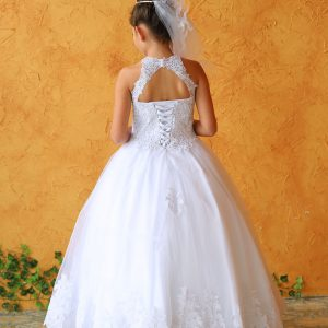 Embroidery Lace First Communion Ball Gown