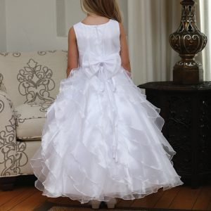 Holy Communion Dress with Ruffled Skirt