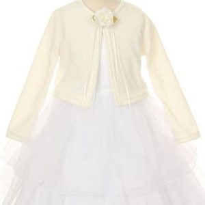 Ivory First Communion Cardigan Sweater for Girls