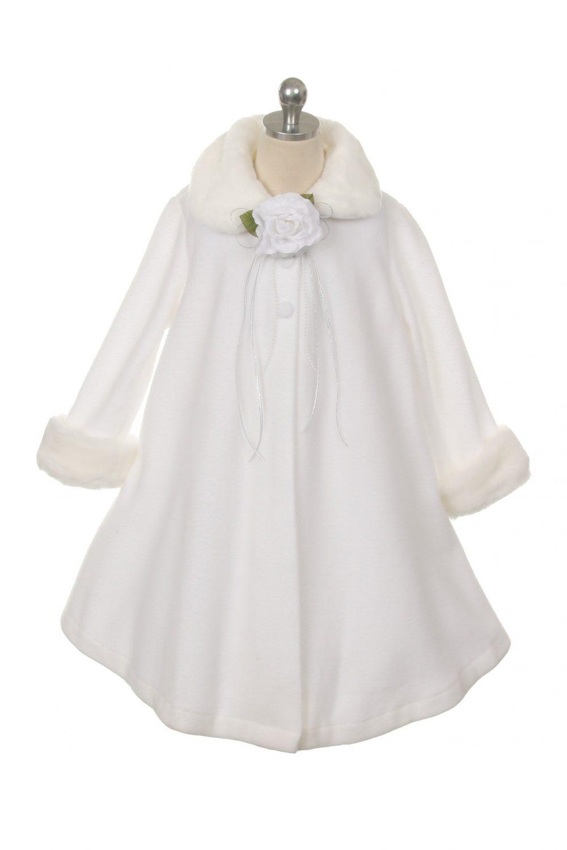 White Fleece First Communion Coat