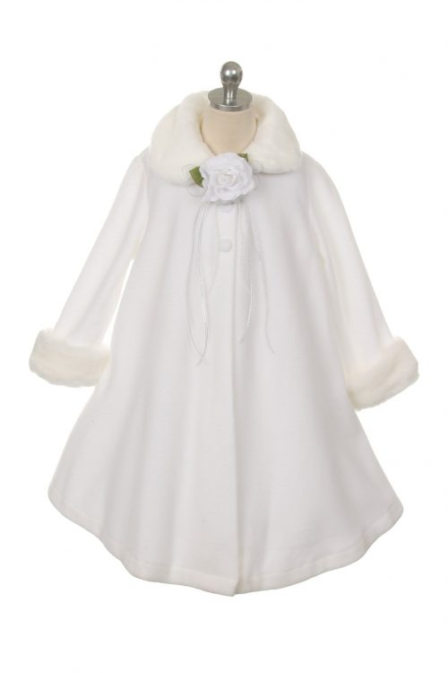 White Fleece First Communion Coat