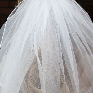 First Communion Comb Veil with Rhinestones