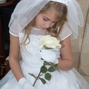 Wide Headband First Communion Veil